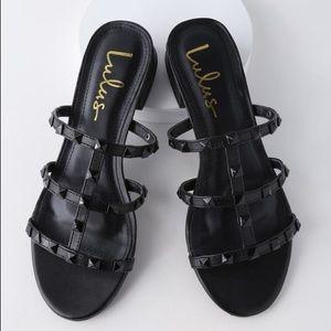 Lulu's black studded sandals. Like new!